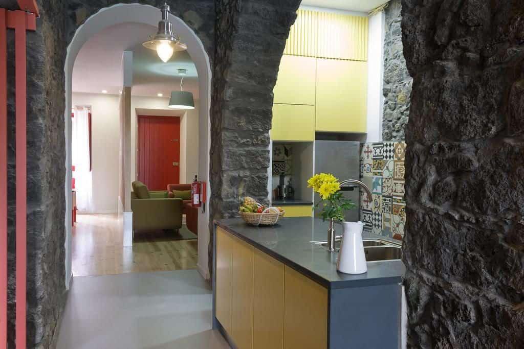 Cozinha no Azorean Urban Lodge