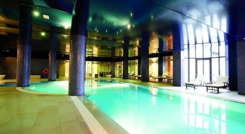 Piscina interior no Montebelo Viseu Hotel&Spa